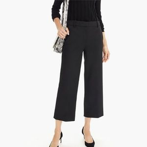 J. Crew Black High-rise Peyton wide-leg Pants